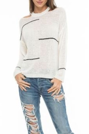 love token Cut Shoulder Top - Front cropped