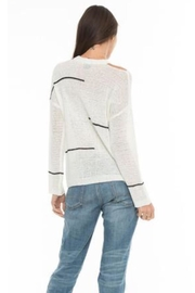 love token Cut Shoulder Top - Front full body