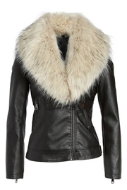 love token Faux Fur Collar Jacket - Other