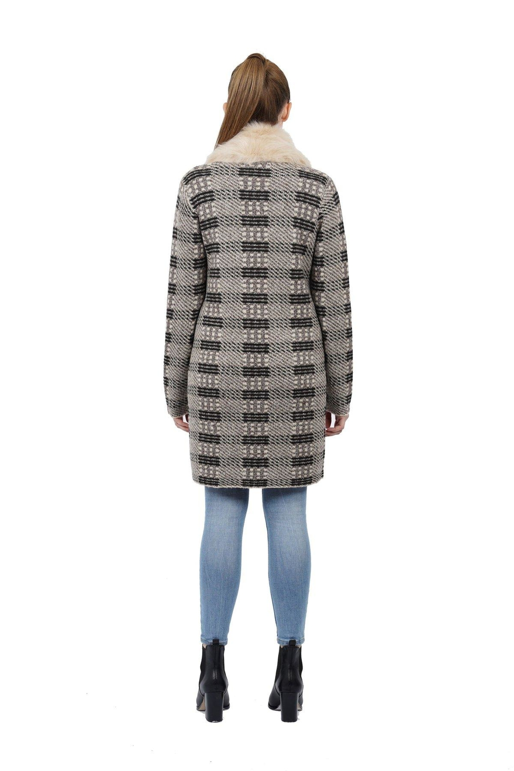 love token Gisela Faux-Fur Knit - Front Full Image