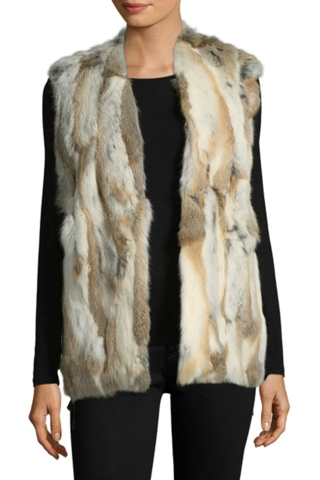 love token Savannah Fur Vest - Front Cropped Image