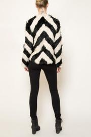 love token Striped Fur Jacket - Side cropped
