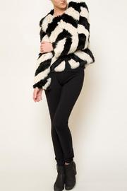 love token Striped Fur Jacket - Product Mini Image