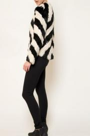 love token Striped Fur Jacket - Front full body