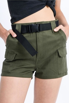 Love Tree Belted Cargo Shorts - Product List Image