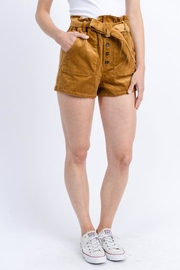 Love Tree Belted Corduroy Shorts - Product Mini Image