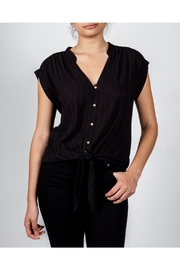 Love Tree Black Front-Tie Top - Product Mini Image