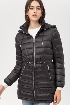 Love Tree Black Puffer Coat - Product List Image