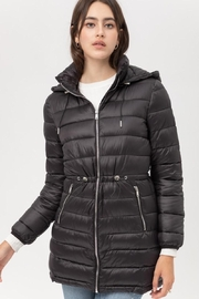 Love Tree Black Puffer Coat - Product Mini Image