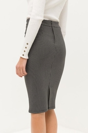 Love Tree Black Tiny Dotted Pencil Skirt - Back cropped