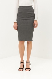 Love Tree Black Tiny Dotted Pencil Skirt - Side cropped