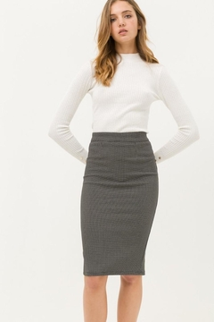 Love Tree Black Tiny Dotted Pencil Skirt - Product List Image