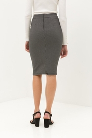 Love Tree Black Tiny Dotted Pencil Skirt - Other