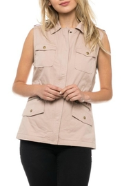 Love Tree Blush Cargo Vest - Front cropped