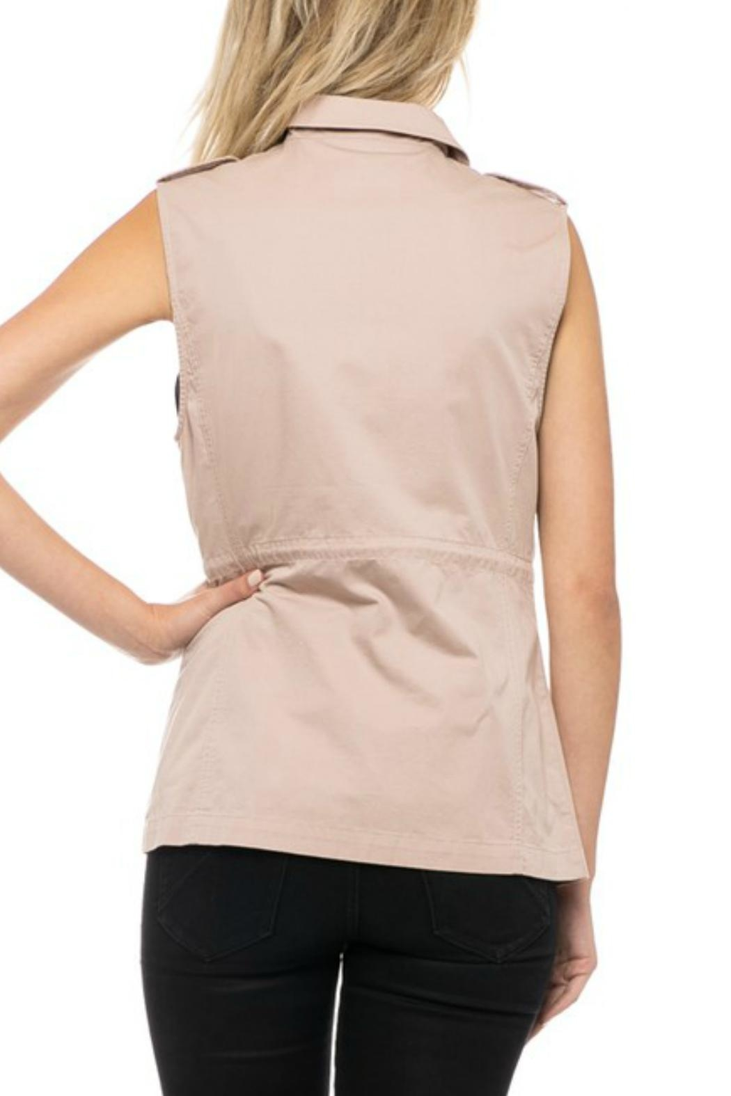 Love Tree Blush Cargo Vest - Side Cropped Image