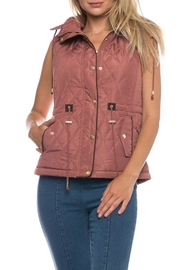 Love Tree Blush Quilted Vest - Product Mini Image
