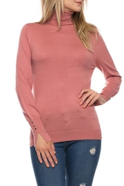 Love Tree Blush Turtle Neck - Front cropped