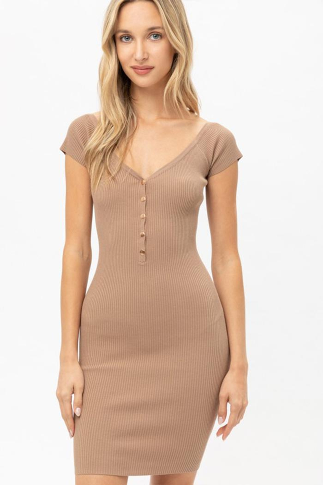 Love Tree Bodycon Mini Dress - Front Cropped Image