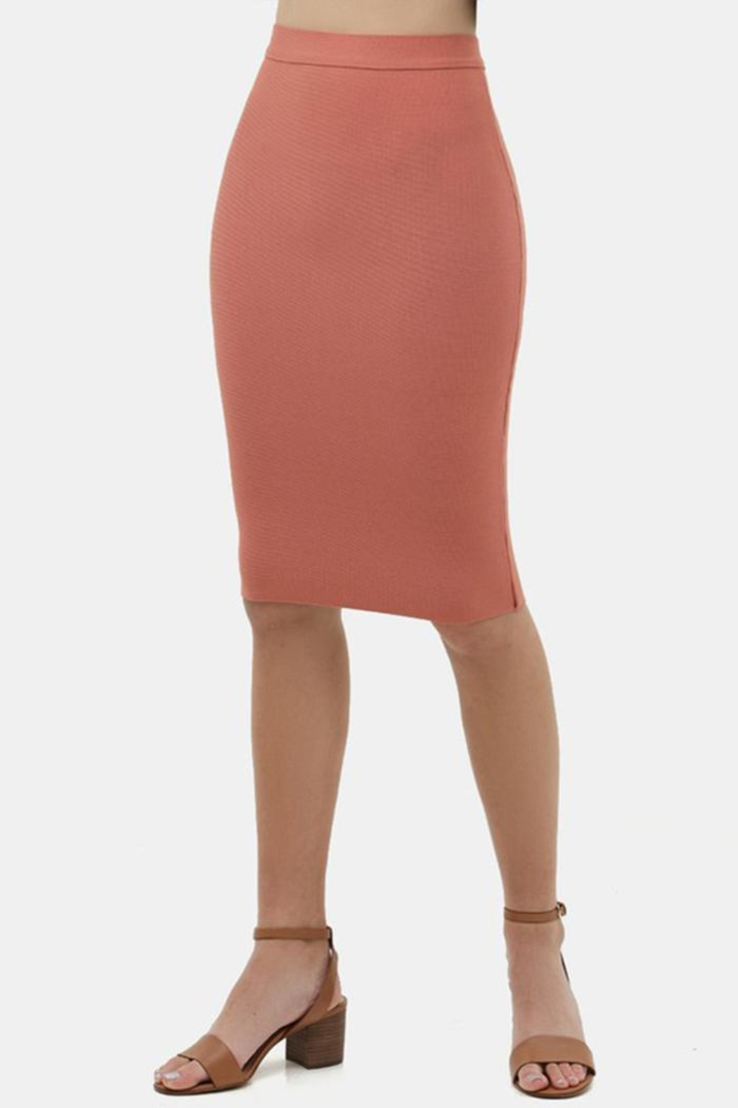 Love Tree Bodycon Pencil Skirt - Front Full Image