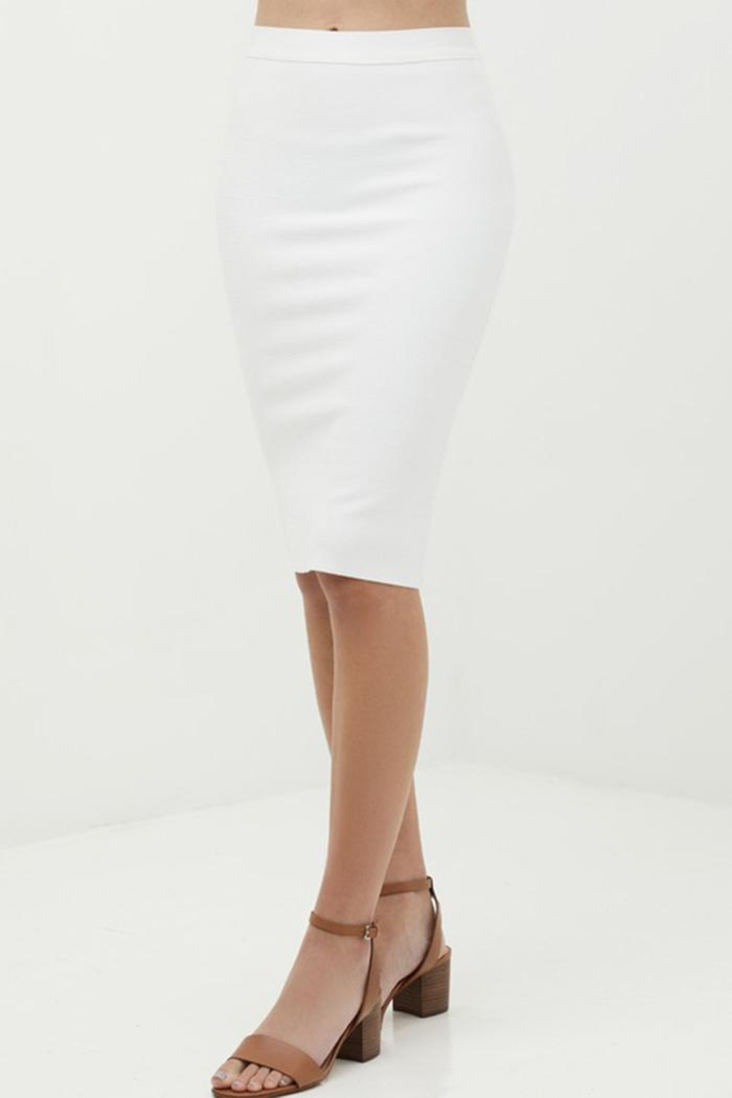 Love Tree Bodycon Pencil Skirt - Side Cropped Image