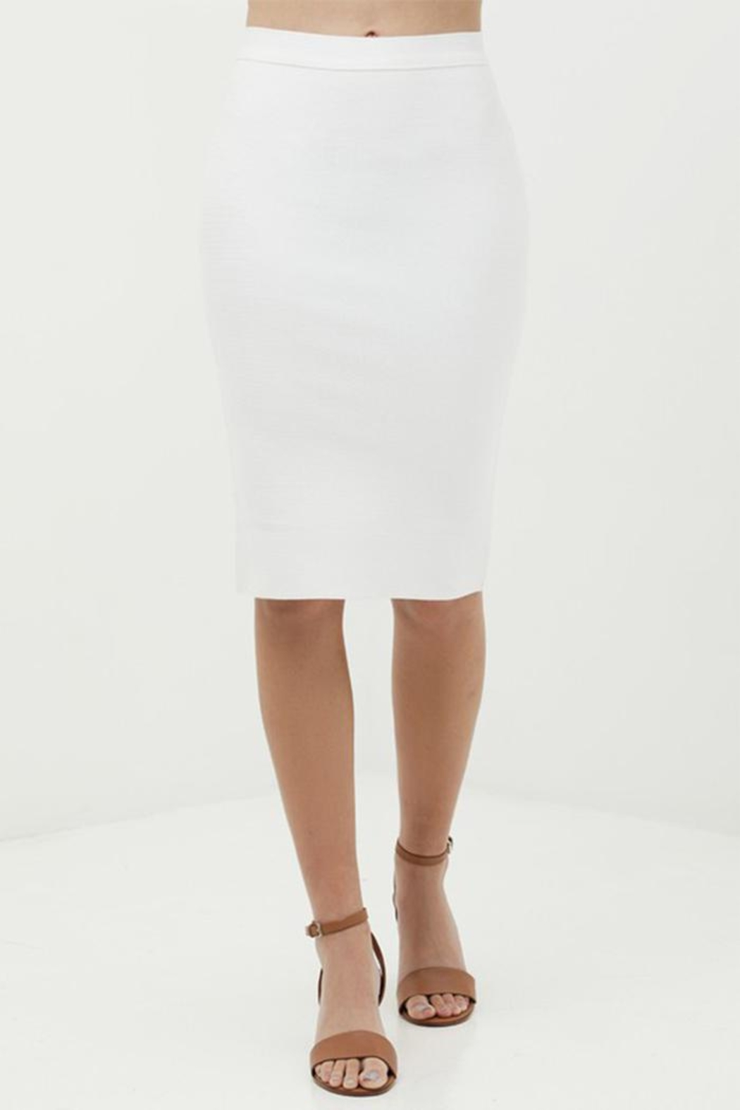 Love Tree Bodycon Pencil Skirt - Front Cropped Image