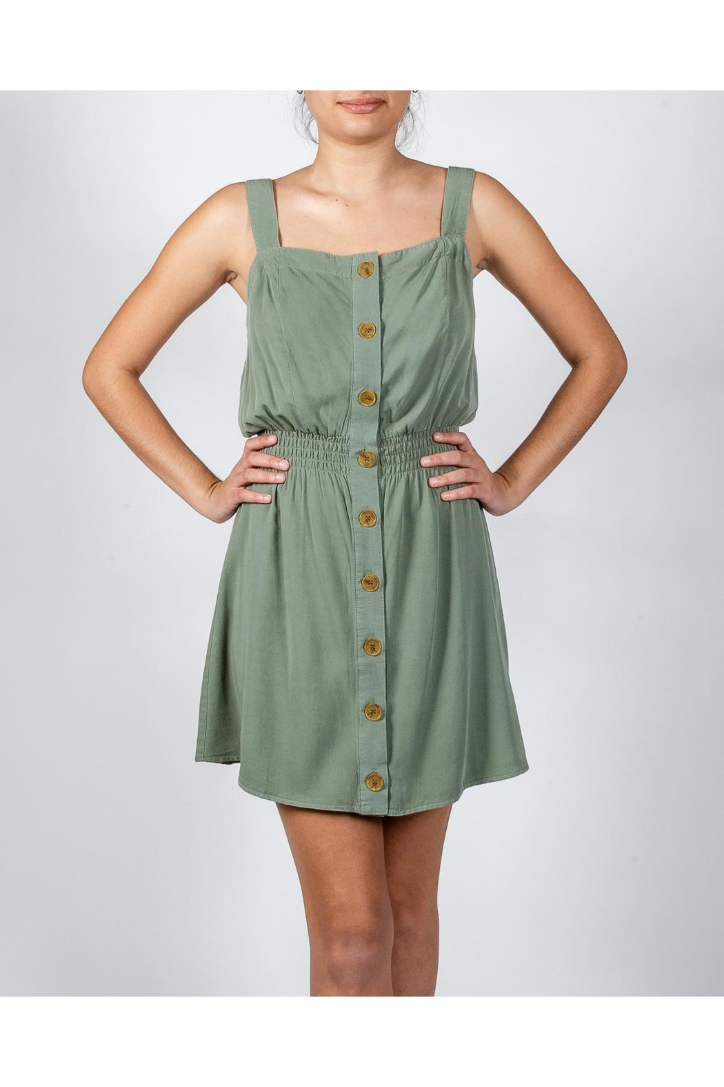 Love Tree Button Down Dress - Front Full Image