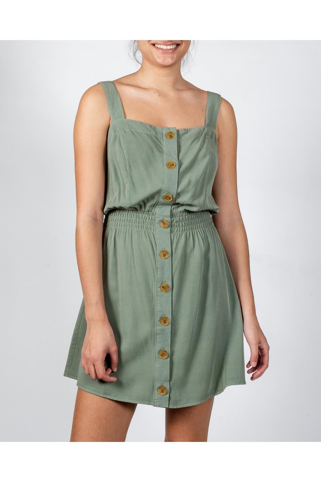 Love Tree Button Down Dress - Back Cropped Image