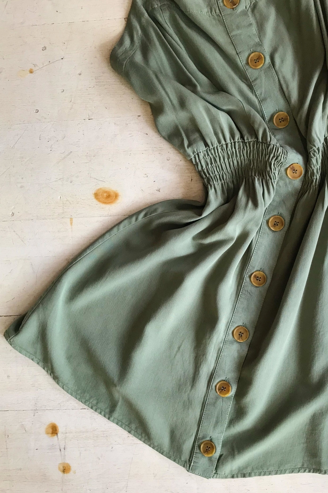 Love Tree Button Down Dress - Front Cropped Image