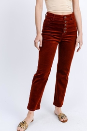 Love Tree Buttoned Corduroy Pants - Product Mini Image