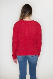 Love Tree Cable Knit Sweater - Side cropped
