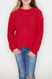 Love Tree Cable Knit Sweater - Front cropped