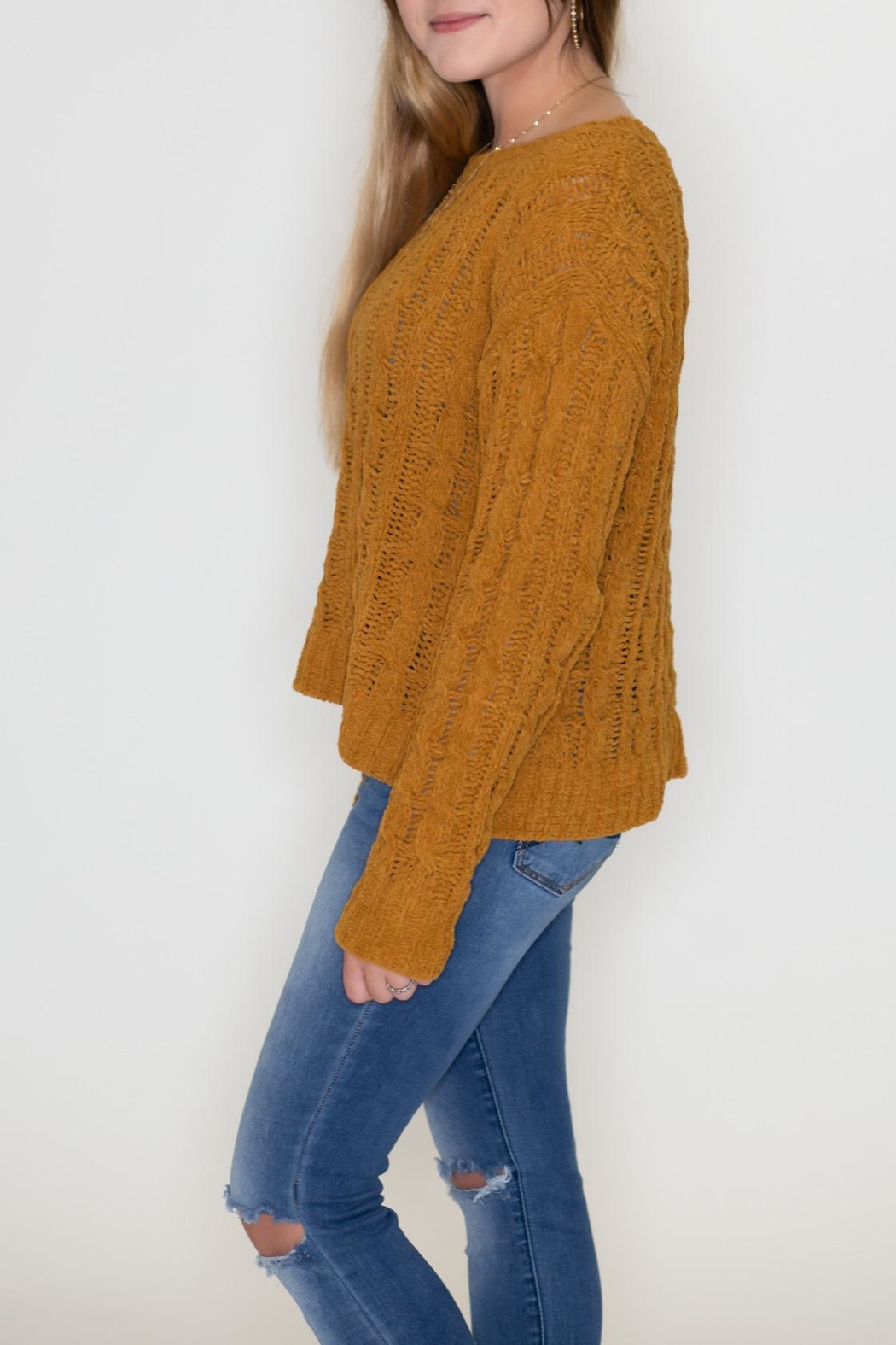 Love Tree Cable Knit Sweater - Front Full Image