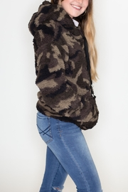 Love Tree Camo Sherpa Hoodie - Front full body