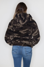 Love Tree Camo Sherpa Hoodie - Side cropped