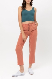 Love Tree Canvas Paperbag Pant - Front cropped
