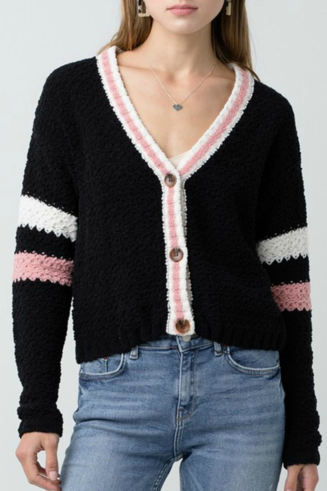 ALB Anchorage Chenille Cropped Cardigan - Main Image