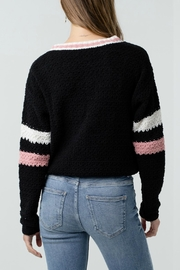 ALB Anchorage Chenille Cropped Cardigan - Front full body
