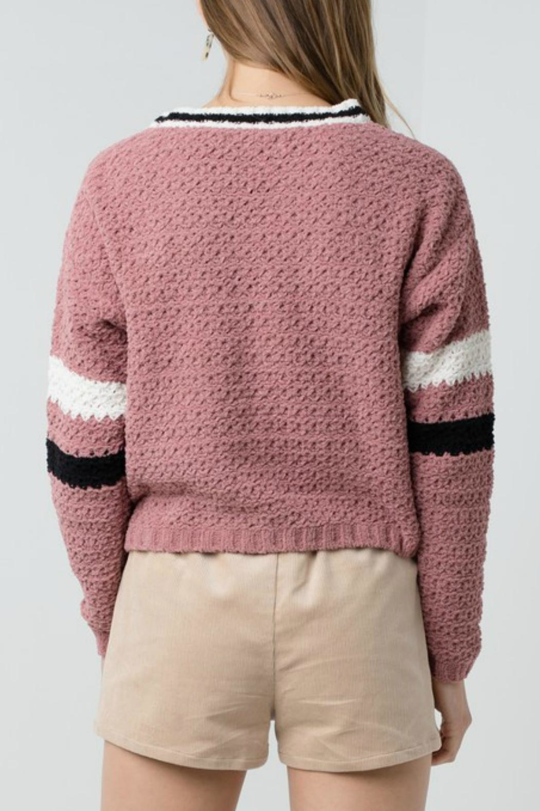 ALB Anchorage Chenille Cropped Cardigan - Front Full Image
