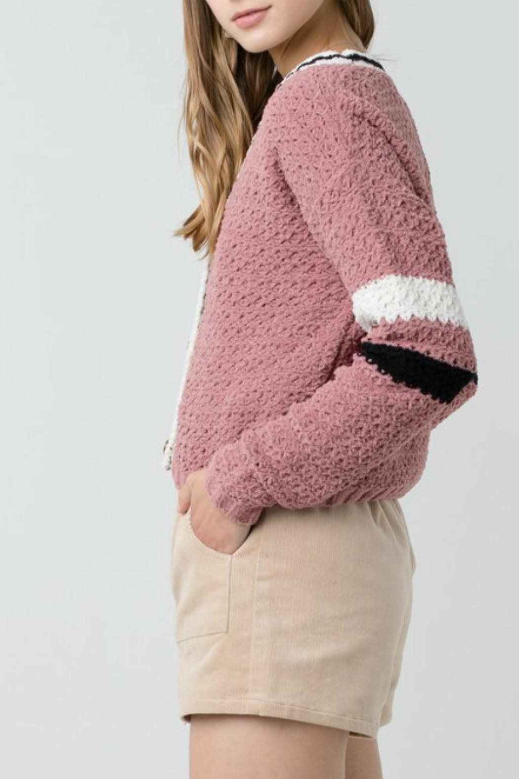 ALB Anchorage Chenille Cropped Cardigan - Side Cropped Image