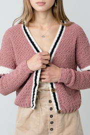 ALB Anchorage Chenille Cropped Cardigan - Front cropped