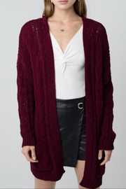 Love Tree Chunky Cable-Knit Cardigan - Front cropped