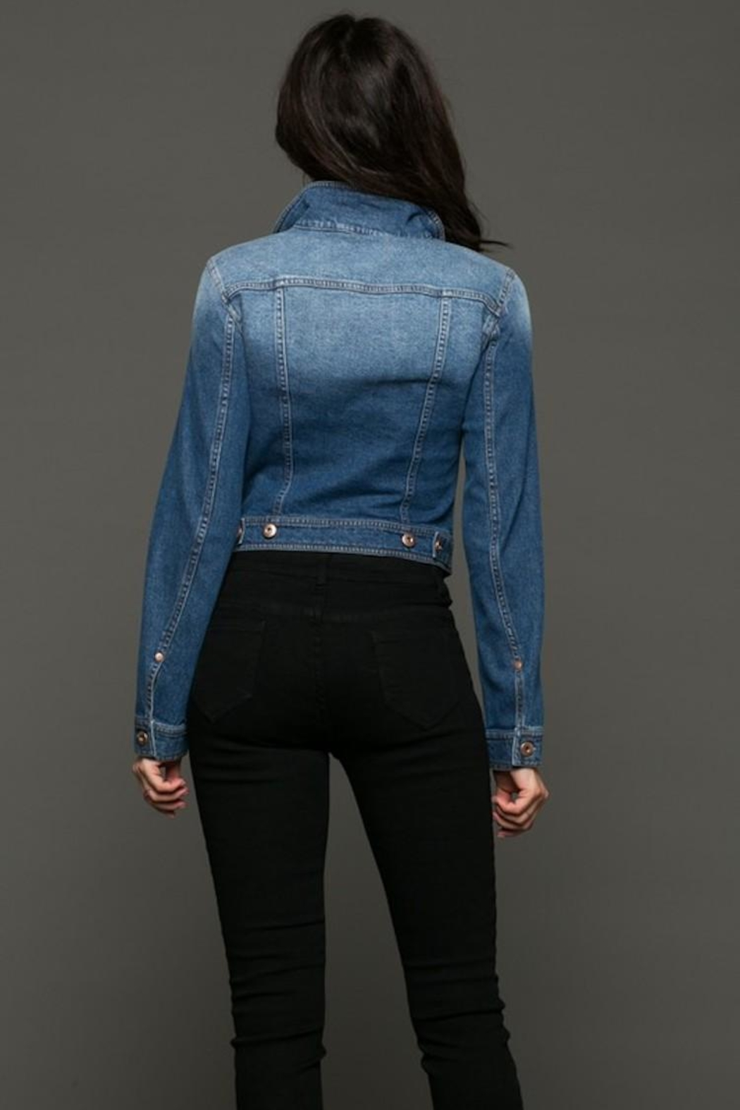 Love Tree Classic Jean Jacket - Back Cropped Image
