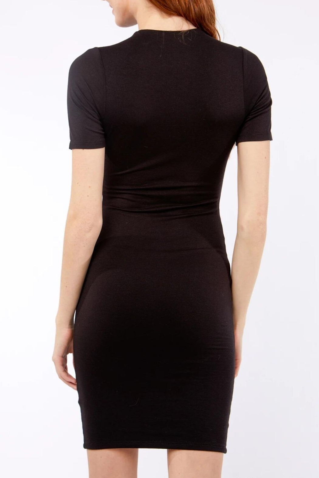 Love Tree Classic Luxe Body Con Little Black Dress - Side Cropped Image