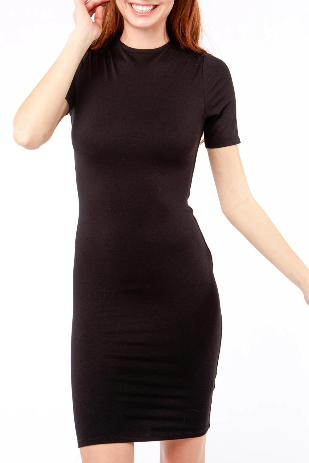 Love Tree Classic Luxe Body Con Little Black Dress - Front Full Image