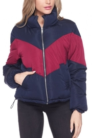 Love Tree Color-Block Puffer Jacket - Product Mini Image