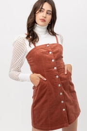 Love Tree Corduroy Button-Down Dress - Front full body