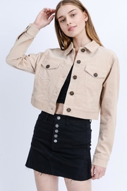 Love Tree Corduroy Mini Jacket - Product Mini Image