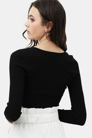 Love Tree Cropped Button Top - Back cropped