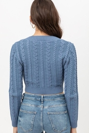 Love Tree Cropped Cable Sweater - Back cropped