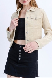 Love Tree Cropped Corduroy Jacket - Product Mini Image